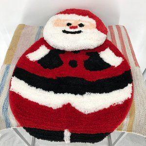 Santa Christmas Bath Decor Rug and toilet cover